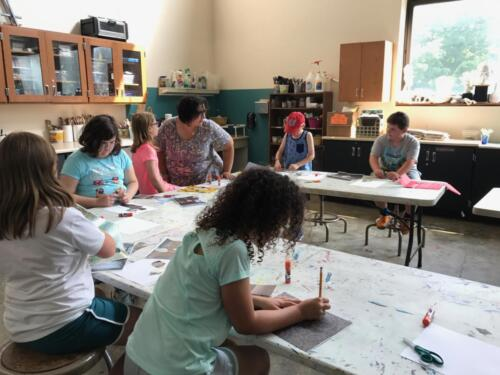 Volunteer Docents lead artmaking activities tied to our exhibitions.