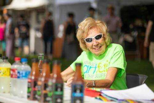 The Krasl Art Fair on the Bluff is successful thanks to the 400+ volunteers who help!