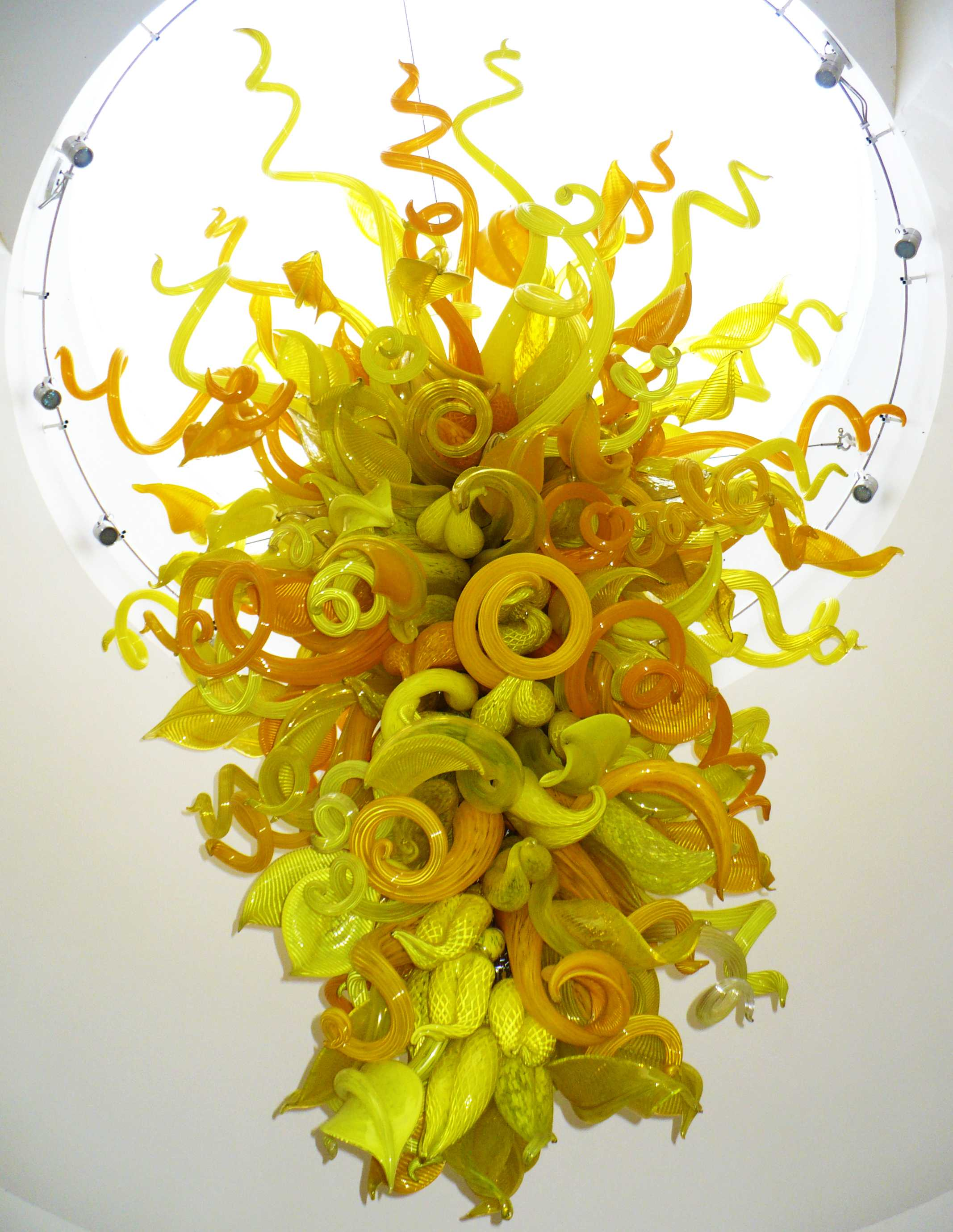 Chihuly - Beacon Gold Chandelier